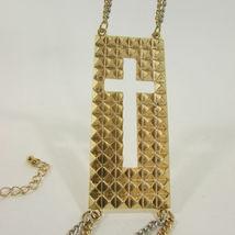 Mujer Moda Joyería Bota Brazalete Oro Placa Cruz Cadenas Zapato Bling Charm image 3