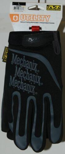Mechanix Wear 911744 Utility Multipurpose Gloves Black Grey Large