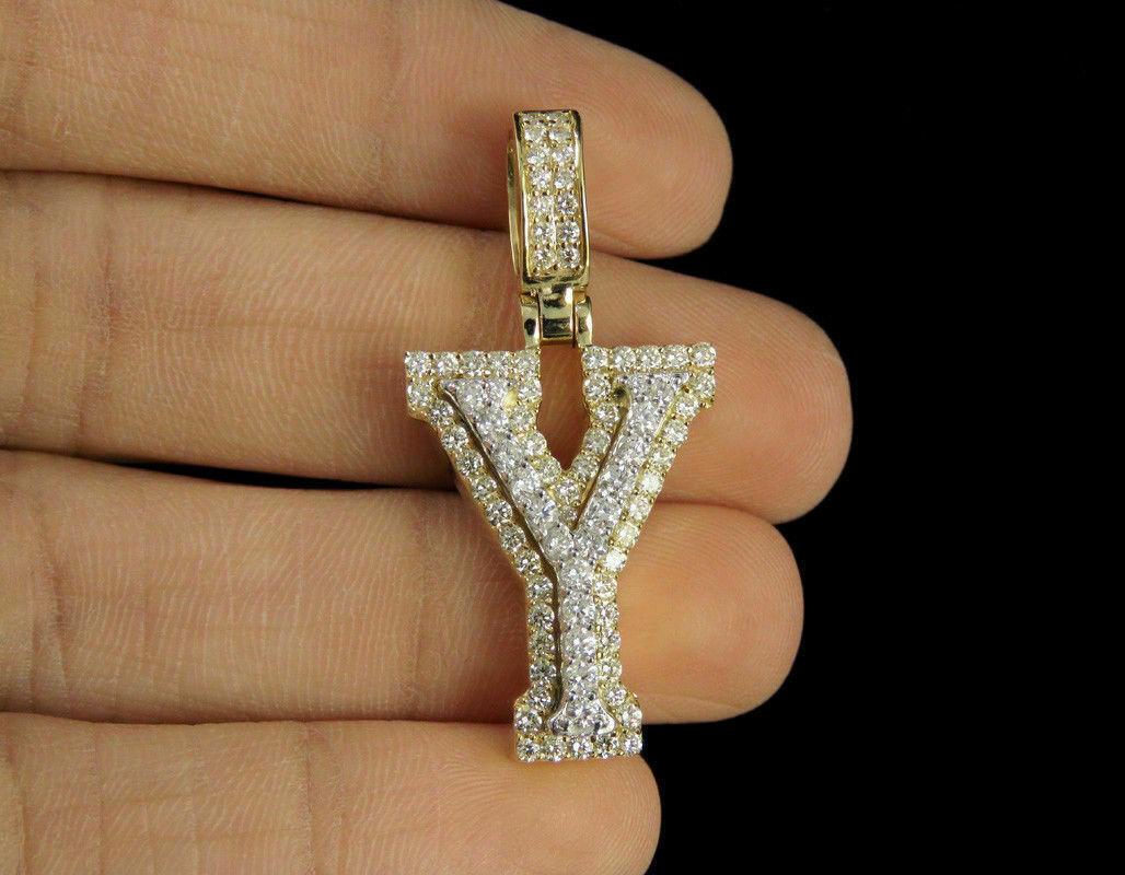 1.50Ct Round Brilliant Cut Diamond Praying Hands Pendant 14K Yellow Gold Finish