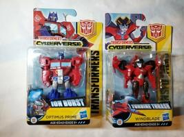 Scout Class Turbine Thrash Windblade + Optimus Prime Transformers Cyberverse - $15.83