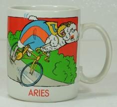 ARIES Mug Ram Sheep Riding Bicycle Humor   - $7.99