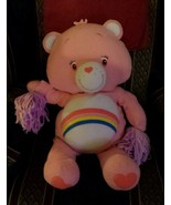 Care Bears Pink 28 Cheerleader Pom Poms Cheer Plush Toy - $9.89