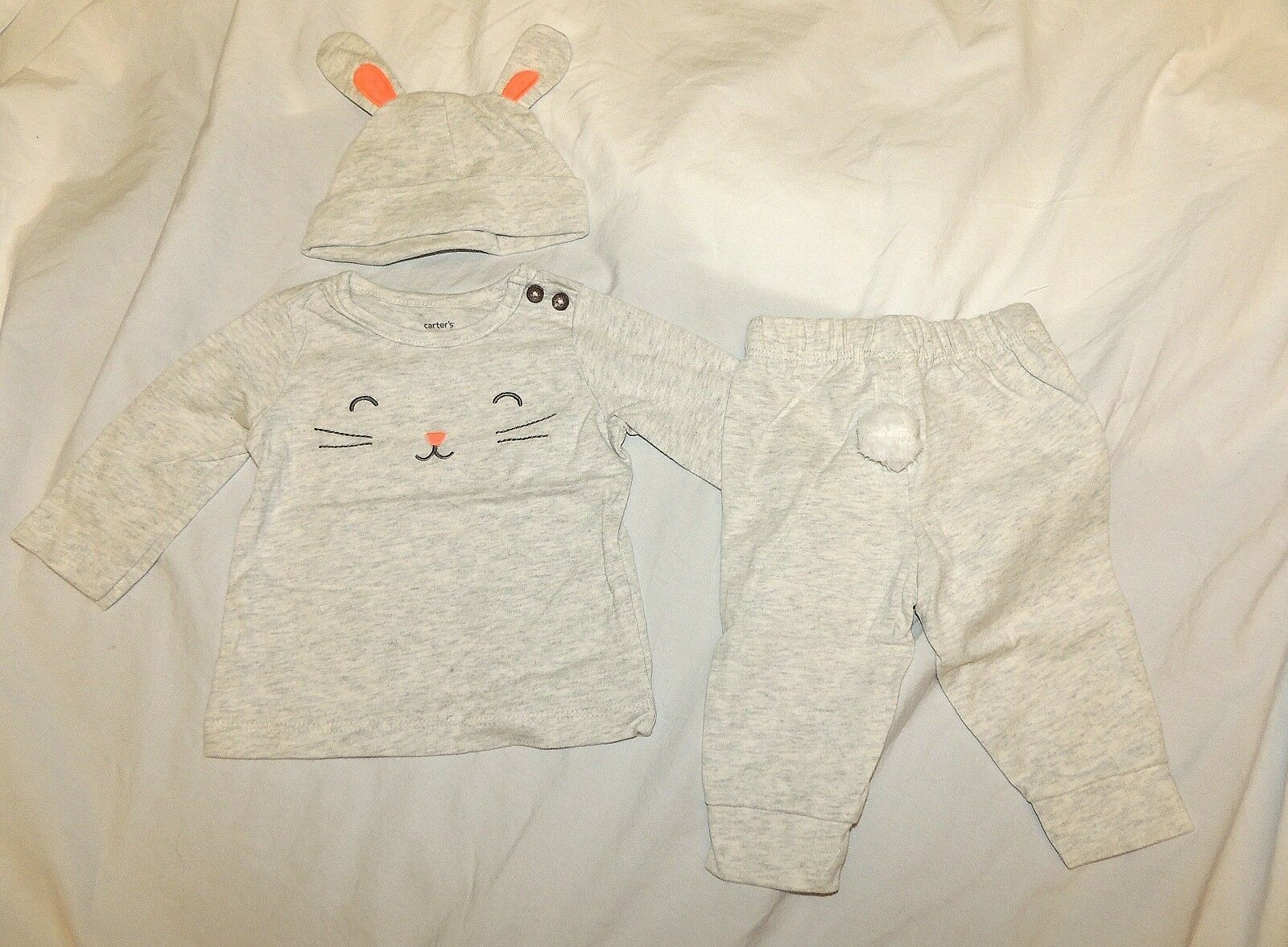 61428f3c70cd S l1600. S l1600. Previous. New Carters Baby Bunny Outfit Costume Unisex  Sizes 3 6 9 M Easter Halloween