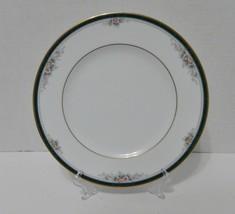 Noritake Landon Pattern Salad Luncheon Plate Teal Band Flowers Gold Trim... - $14.73