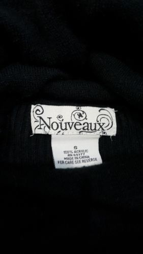 Nouveaux Black Cowl Neck Sweater Size Small Womens Oversize Fit Top image 6