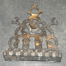 Hanukkah Oil Menorah Bronze North Africa Bird Ornament Decorations Wall Hang image 4