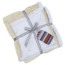 uni natur beige weiß Vlies Sherpa Überwurf Decke 127cm x 152cm - $36.40
