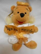 "NEW Disney Winnie the Pooh Mini Bean Bag Choir Angel Halo Wings 9"" Christmas - $8.90"