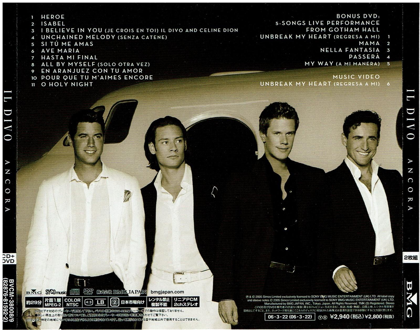 il Divo: Ancora, (Audio CD) 2006, Special 2 Disc Set