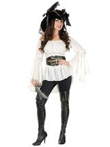 Charades Women's Pirate Lady Vixen Costume Blouse, Large - $70.02