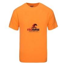 "Firehorse ""Muscle Forge Gear"" T-SHIRT Gildan Dri-Blend 50/50 Blend L-Orange - $18.69"