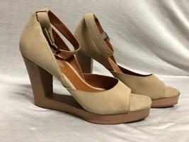 Bcbg Maxazria Shoes Heels Wedges Strap Beige Suede Open Toe Size: 9B / 39 - $23.36