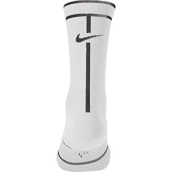New Nike Court Essential Crew Dri-Fit Socks Large SX6913 Rafa Federer L/R Tennis