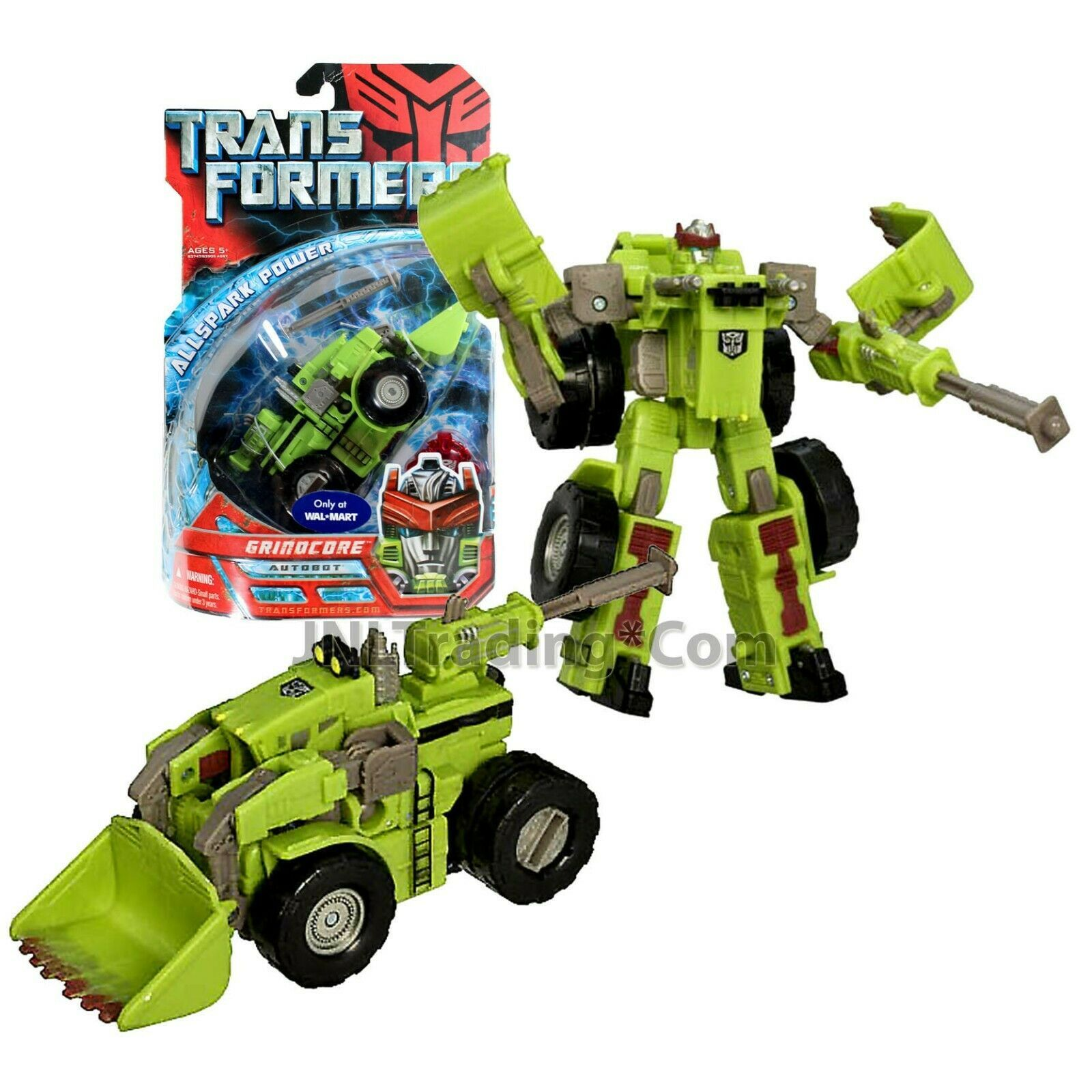 """Year 2007 Transformers 1st Movie All Spark Power Deluxe Class 6"""" Fig GRINDCORE"""