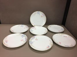 7 Gabriele by Mikasa Salad Plates Number: L9561AA003 Pastel Floral Fine China - $38.61