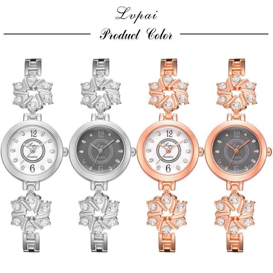 Lvpai® Watch Women Fashion Luxury Bracelet Silver Rose Gold Rhinestone Creative
