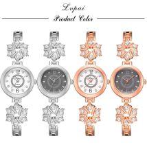 Lvpai® Watch Women Fashion Luxury Bracelet Silver Rose Gold Rhinestone Creative image 6