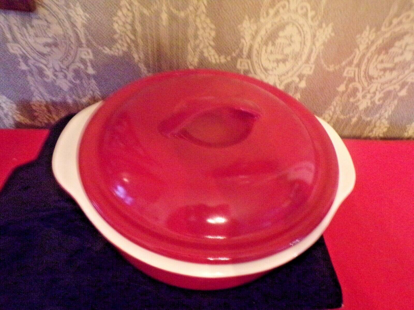 Corelle Coordinates 2 1/2qt Red stoneware casserole dish with lid - $34.65