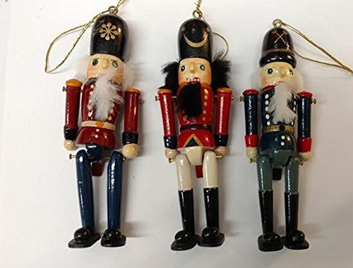 Set of 3 Wooden Nutcracker Figurine Ornaments 6 inches tall - $20.00
