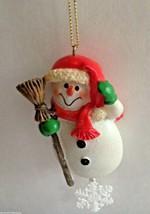 Snowman Ornament Christmas Resin Snowflake Frosty Winter Santa Birthday ... - $15.51