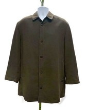 Sanyo Men's Trench Coat With Anti Magnetic Cell Safety Pocket Olive Size... - $91.99