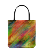Mixed Paint Colors Everyday Tote Bag Colorful Art Double Sided Print Tra... - $19.95