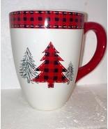 Coffee or Cocoa Mug LARGE  holds 2 cups CHRISTMAS TREES MERRY CHRISTMAS - $10.88