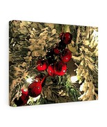 "Christmas Berry Canvas 14"" x 11"" Gallery Wrapped Print by BL Lawson - $39.99"