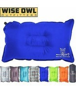 Wise Owl Outfitters Camping Pillow Lightweight & Self Inflating –Camp Be... - $18.01+