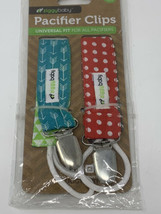 Ziggy Baby Pacifier Clips Boy Girl Baby 2 Pack 2-Sided Design Holder - $10.88