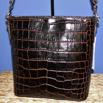 Dooney & Bourke Lani Croco Emb Leather Crossbody Brown T'Moro image 6