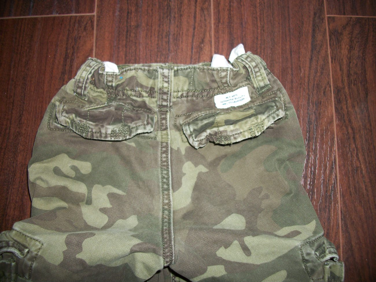 Boys The Childrens Place Camo Cargo Pants Size 5 Adjustable