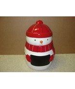 Snowman Cookie Jar St. Nicholas Square Merry Christmas - Shipping cost l... - $17.51