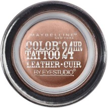 Maybelline Eye Studio Color Tattoo Leather 24Hr Cream Gel Eyeshadow, Cre... - $29.39