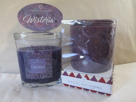 Colonial Candle Boxed Purple Electric Wax Warmer, Snap & 8 oz Jar- WISTERIA - $36.00