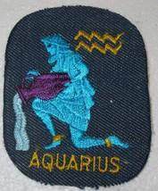 AQUARIUS ZODIAC  KNEE PATCH HEAT PRESS   2 for 1 PRICE - $0.99