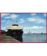 CHEBOYGAN MICHIGAN Oil Tanker Ship Cutter Mackinaw MI - $4.00