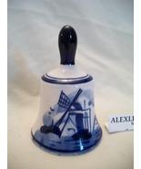 Elesva Delft Blue windmill bell - $10.99