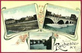 ROCHESTER NEW YORK NY Multi View RR Depot Bridges - $10.00