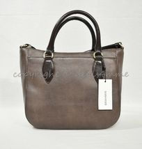 NWT Brahmin Small Lena Leather Satchel/Shoulder Bag in Brown Barrow image 7