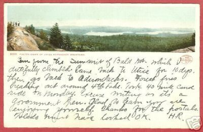 Primary image for FULTON CHAIN LAKES Adirondack Mtns UDB Postcard BJs