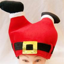 1pc Creative Funny Red Pants Christmas Hat Santa Claus Legs Xmas Hat for... - $12.06