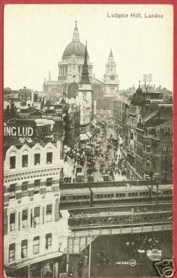 London Ludgate Hill Post card Postcard BJs