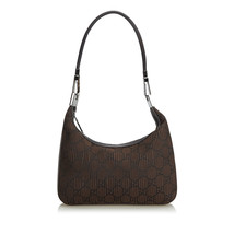 Pre-Loved Gucci Brown Nylon Fabric GG Shoulder Bag Italy - $340.34