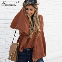 Simenual Flare sleeve fashion sweaters women winter 2018 pullovers femal... - $39.99