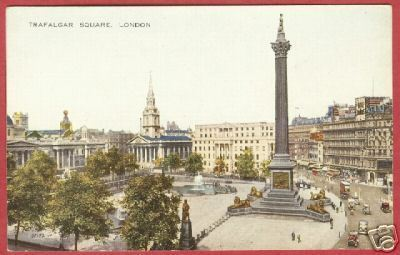London Trafalgar Square Postcard BJs