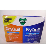 Vicks DayQuil Cold & Flu 48 Liquicaps & NyQuil Cold & Flu 24 Liquicaps {... - $18.70
