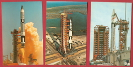 Lot of 3 JFK Space Center Postcards Launch BJs  - $7.50