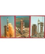 Lot of 3 JFK Space Center Postcards Launch BJs  - $7.50