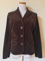 PAUL & JOE for Target Brown Corduroy Basic Jacket Button-Front Blazer Co... - $9.89